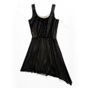 NEW Sleeveless Asymmetrical Sheer Layer Dress XS